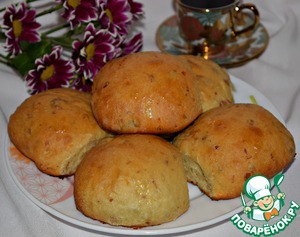 Рецепт Сдобные булочки с изюмом и имбирем