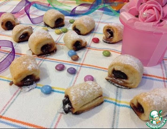 Рецепт: Печенье Фруктовые полосочки