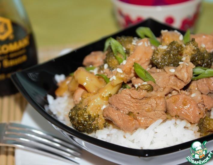 Рецепт: Стир-фрай с брокколи