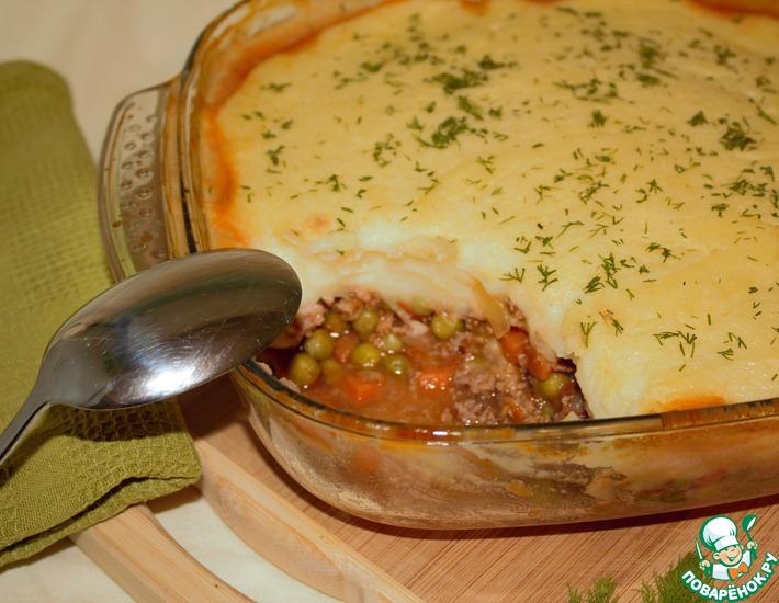 Рецепт: Коттеджный пирог с цветной капустой