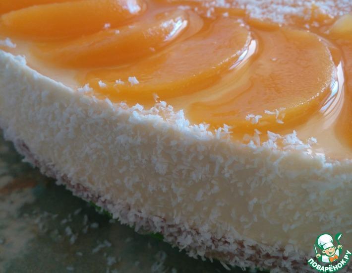 Рецепт: Творожно-персиковый торт с мюсли