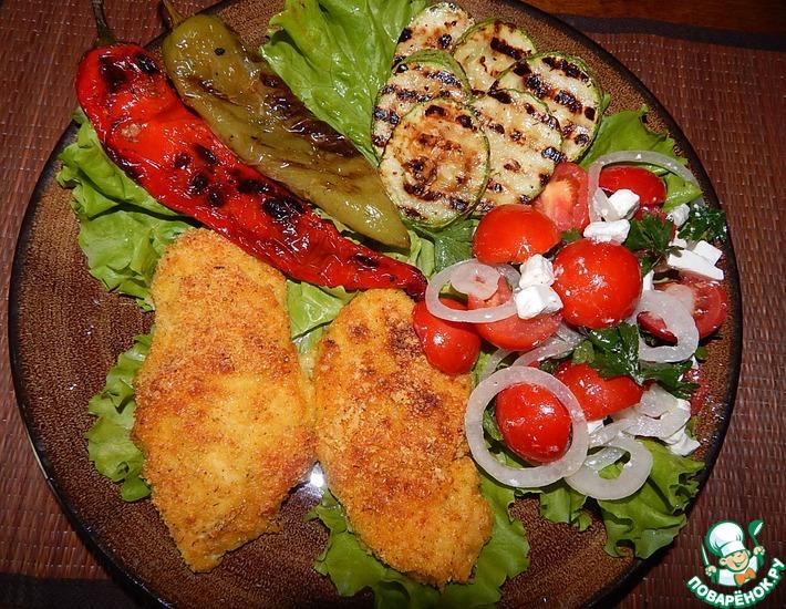 Рецепт: Запеченное куриное филе во вкусной панировке