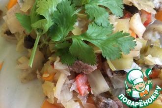 Рецепт: Тушеные овощи с мясом