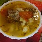Суп с пшеничными галушками