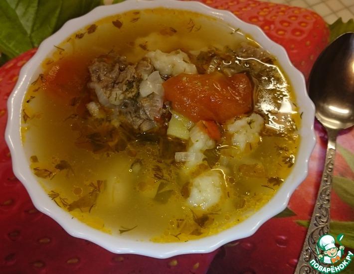 Рецепт: Суп с пшеничными галушками