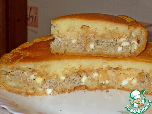 пирог с фаршем поваренок