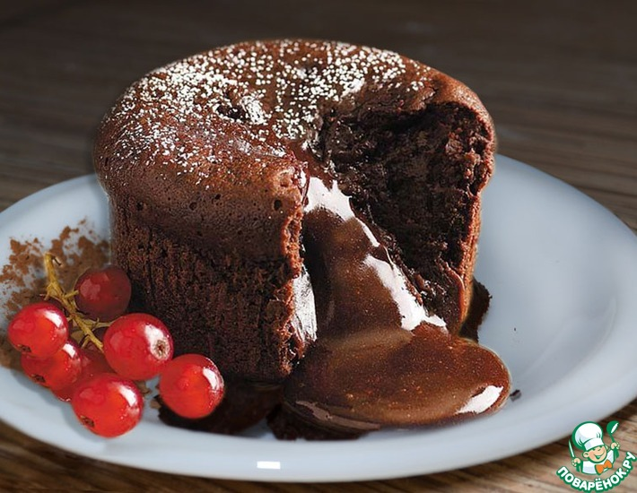 Рецепт: Шоколадный фондан