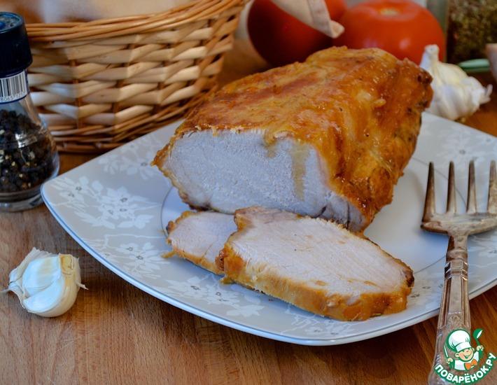 Рецепт: Свинина в сливочном масле
