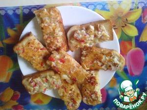 Рецепт Бутерброды с крабовыми палочками