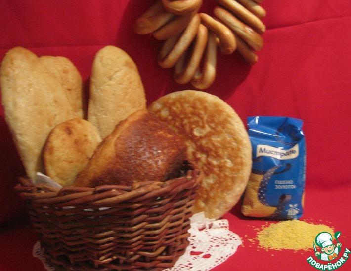 Рецепт: Хлеб с пшенной кашей