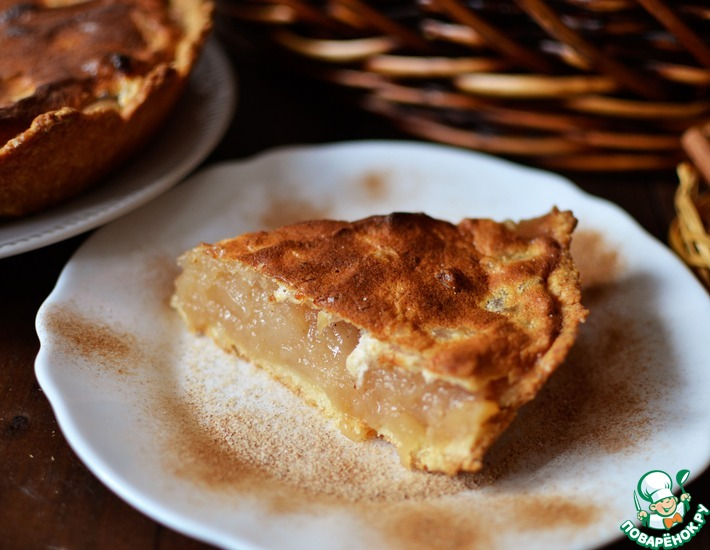 Рецепт: Пирог Яблочный мусс
