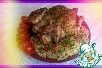 Рецепт: Курица по-аджарски с рисом