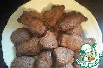 Рецепт: Шоколадное печенье в формочках