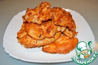 Рецепт: Куриные отбивные в яично-томатном соусе