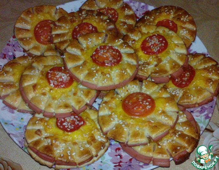 Рецепт: Мини-пиццы Для дочурки