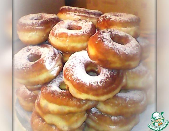 Рецепт: Бездрожжевые пончики