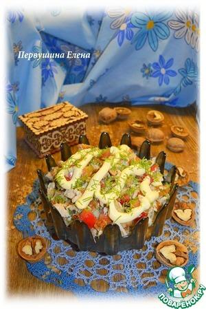 Рецепт Салат с гречневыми оладьями и тархуном