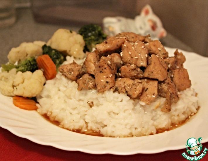 Рецепт: Курица в соевом соусе с медом