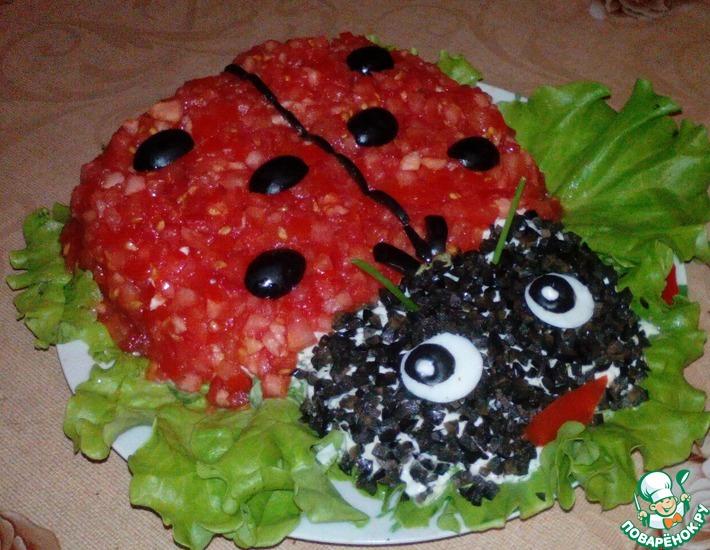 божья коровка салат рецепт