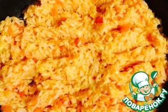 Рецепт: Самый вкусный рис с сыром и помидорами