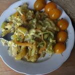 Жареный картофель с яйцами