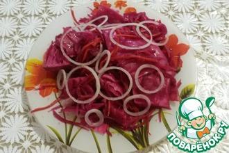 Рецепт: Квашеная капуста со свеклой и морковью