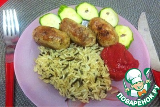 Рецепт: Колбаски из индейки