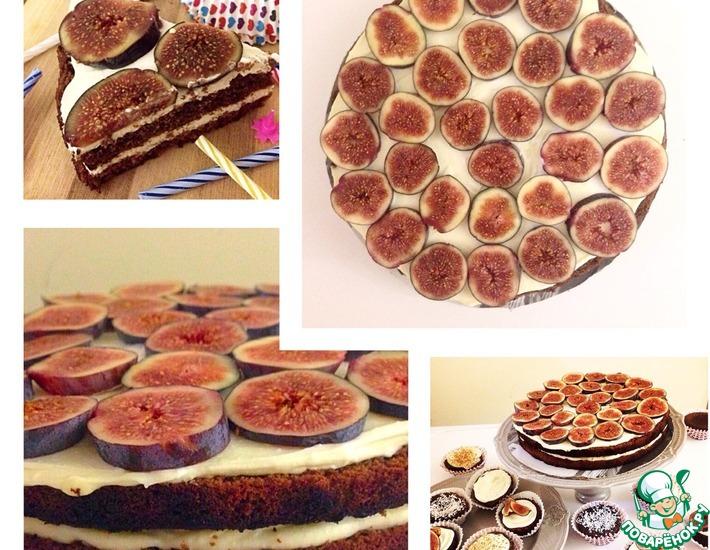 Рецепт: Шоколадный торт с творожным кремом