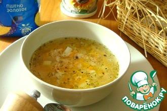 Рецепт: Пшённый суп с консервированным тунцом