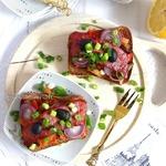 Тартин с овощами и говядиной