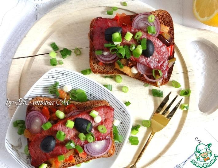 Рецепт: Тартин с овощами и говядиной