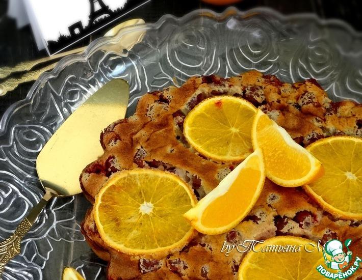 Рецепт: Клафути с крыжовником и мандарином