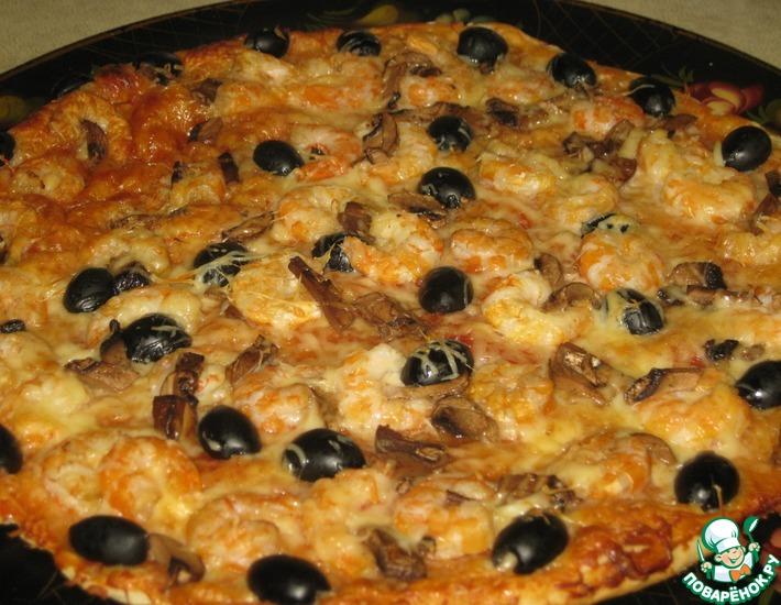 Рецепт: Тонкое тесто и соус для итальянской пиццы