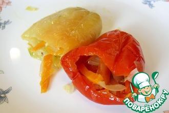 Рецепт: Квашеный перец, фаршированный овощами