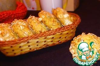 Рецепт: Тыквенное печенье с геркулесом и орехами