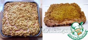 11. Достаем из духовки и даем остыть пирогу прямо в форме. Как только пирог остыл, достаем его из формы. По желанию пирог можно посыпать сахарной пудрой.