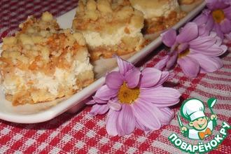 Рецепт: Яблочно-творожный пирог Слоёный