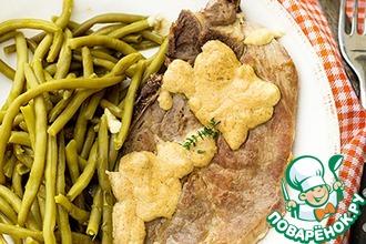 Рецепт: Жареная свинина с горчичным соусом