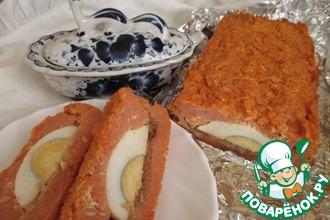 Рецепт: Запеканка из рисовых хлопьев с томатом и яйцом
