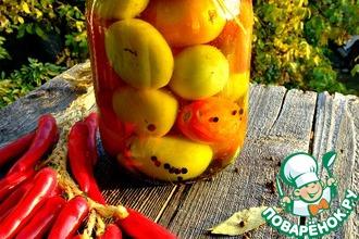 Рецепт: Зеленые помидоры в пряном маринаде
