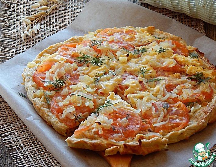 Рецепт: Крестьянский рыбный пирог с вяленой рыбой