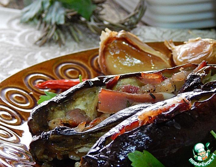 Рецепт: Шпигованные баклажаны