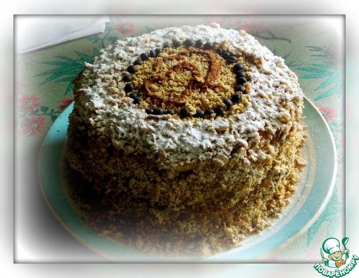 Рецепт: Кофейный торт на сковороде