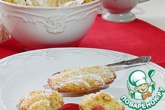 Рецепт: Бисквитное печенье Мадлен на чайном масле