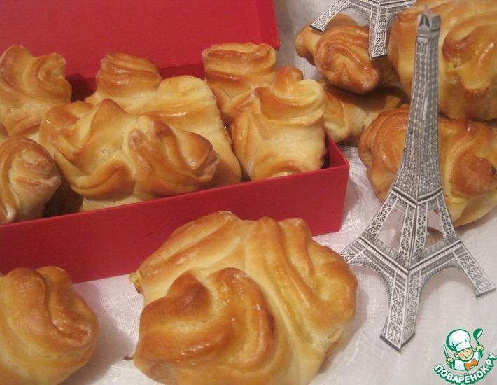 Рецепт: Французская булочка с кремом