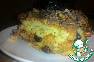 Рецепт: Медовый бисквит с черносливом