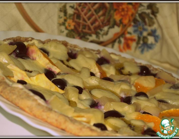 Рецепт: Фруктовая пицца Каприз