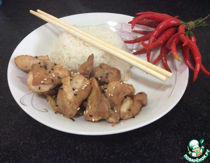 Рецепт: Курица по-сычуаньски китайская