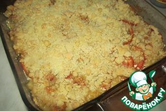Рецепт: Крамбл из кабачков и помидоров