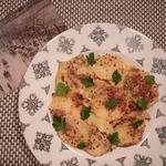 Картофельный гратен в сливочно–горчичном соусе